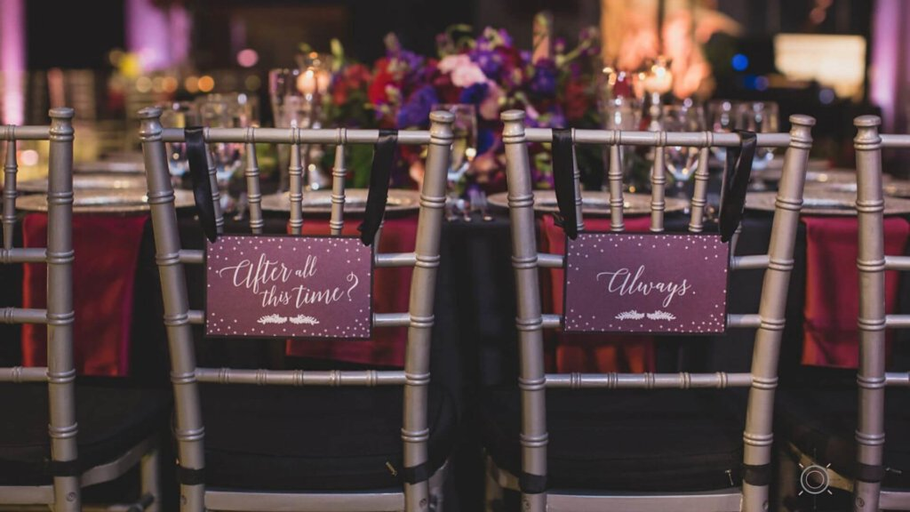 Harry Potter Wedding Details decor