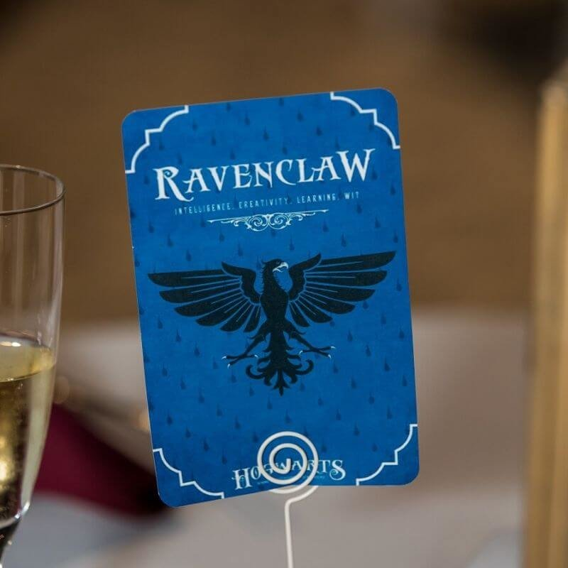 Harry Potter Wedding Details- ravenclaw table number