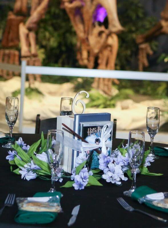 Harry Potter Wedding Details table setting