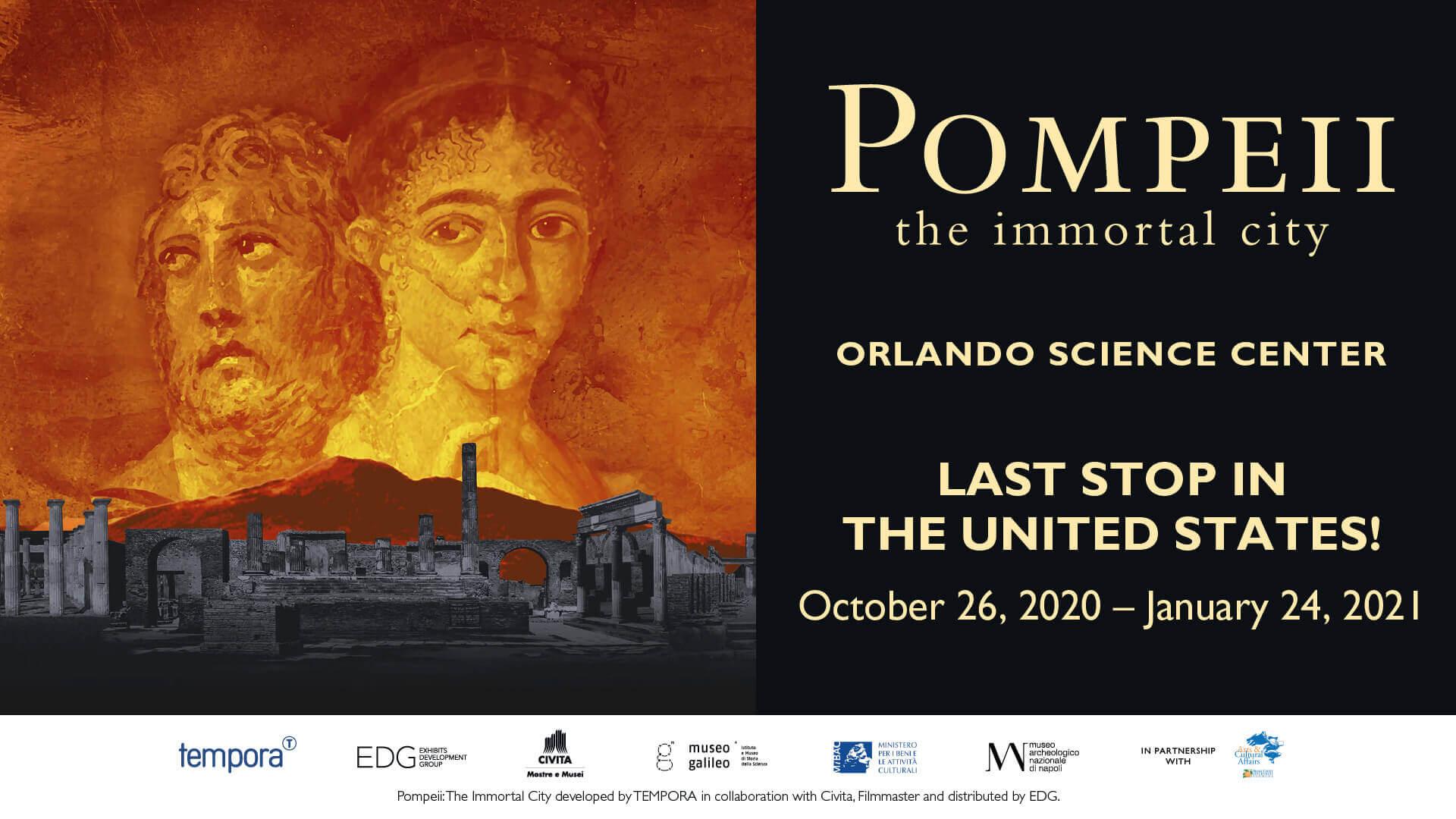 Pompeii: the Immortal City Exhibit - Premiering October 26, 2020