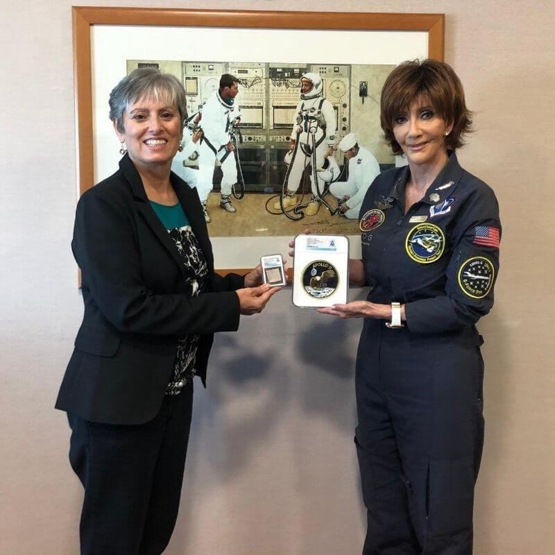SpaceKids Global donation to JoAnn Newman