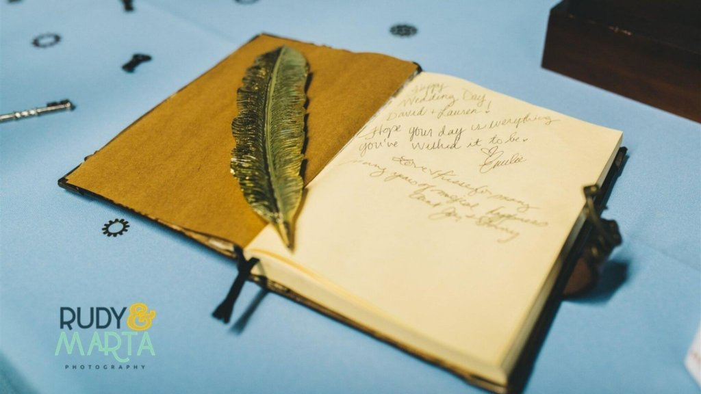 fantasy wedding guest book