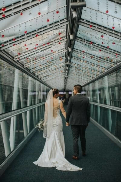 intimate weddings love bridge