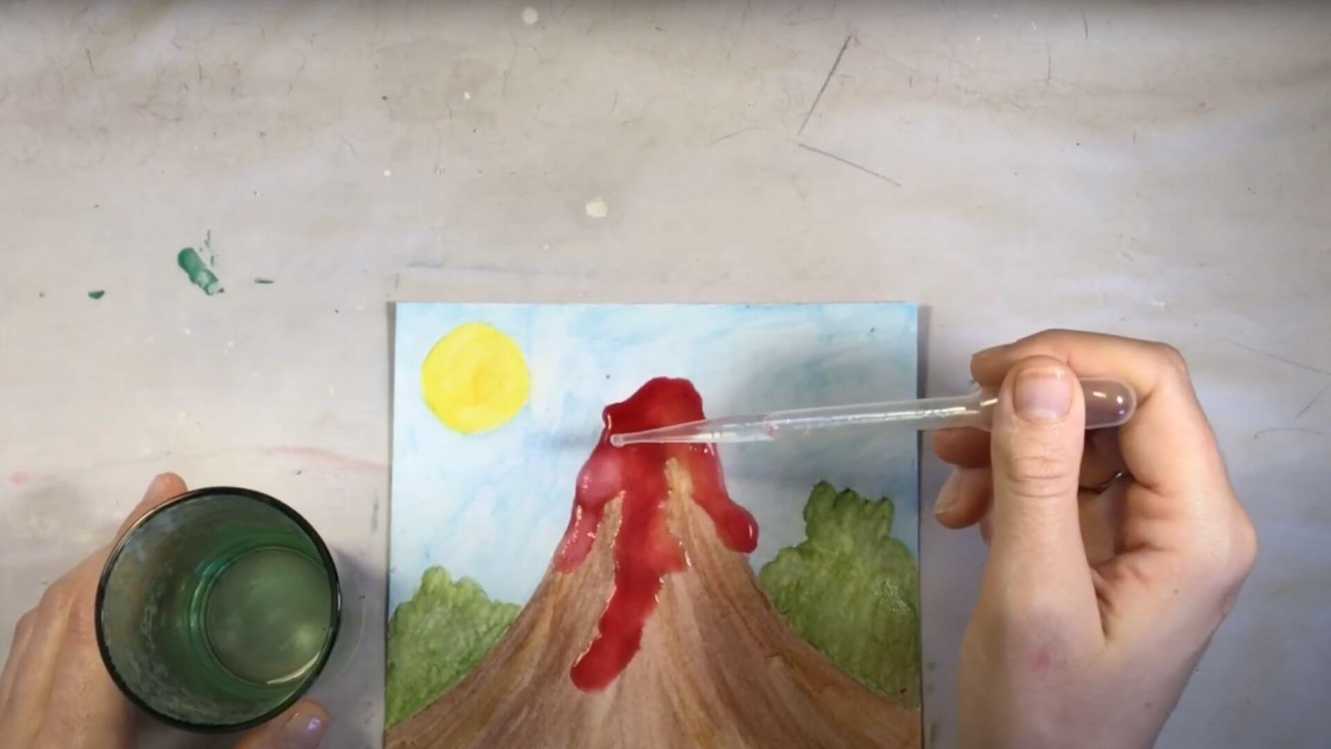 painting technique for kids to try