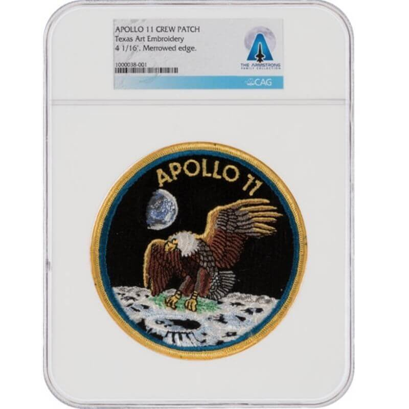 SpaceKids Global donation of Neil Armstrong Apollo 11 NASA patch