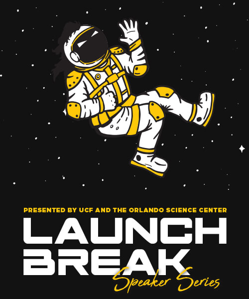 Astronaut waving - Launch Break A Speaker Series