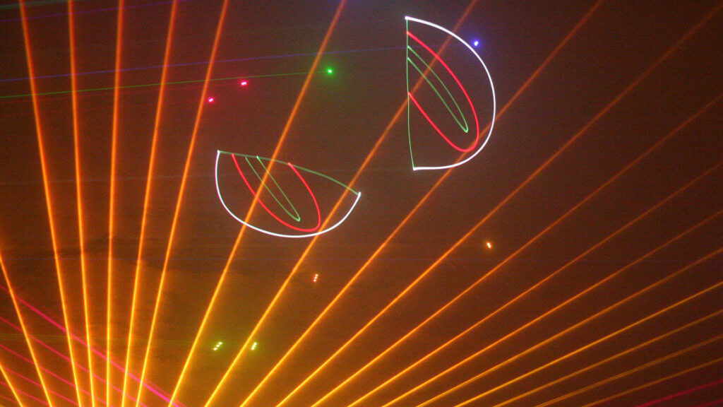 Pumpkins and Protons Laser Light Show