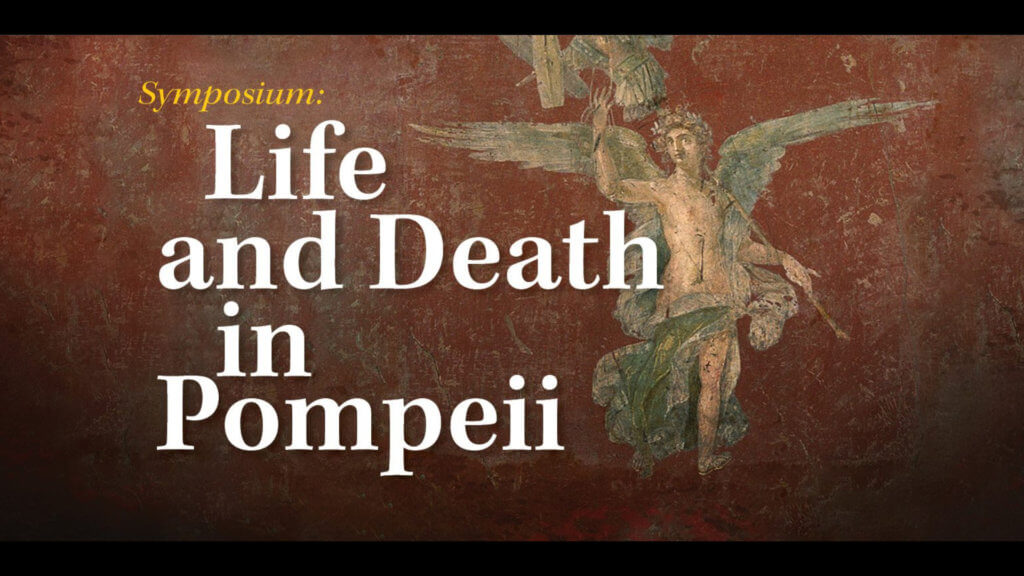 Symposium: Life and Death in Pompeii - image of fresco painting of Icarus