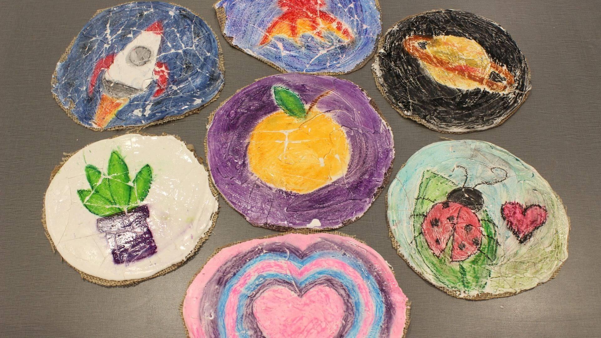 DIY Fresco Art For Kids