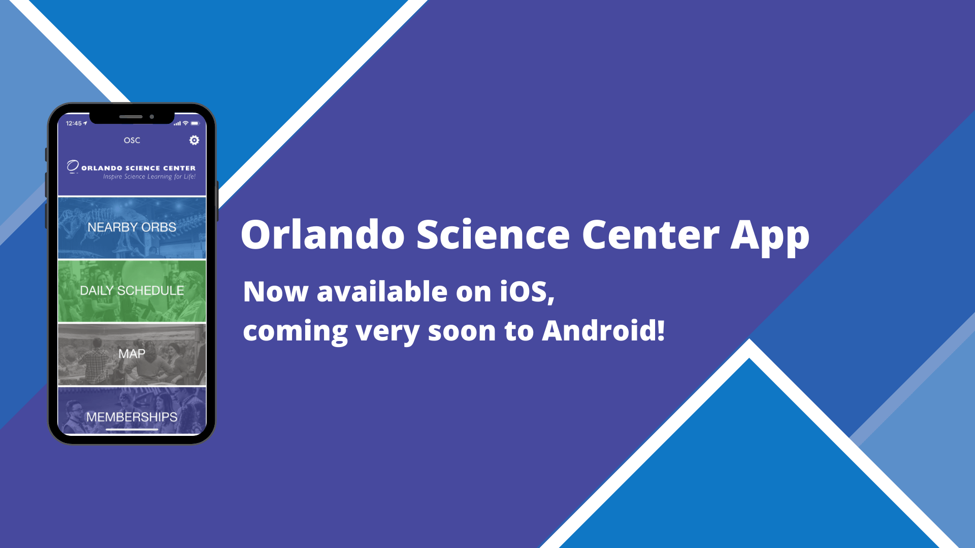 Orlando Science Center OSC app. No available on iOS, coming very soon to Android!