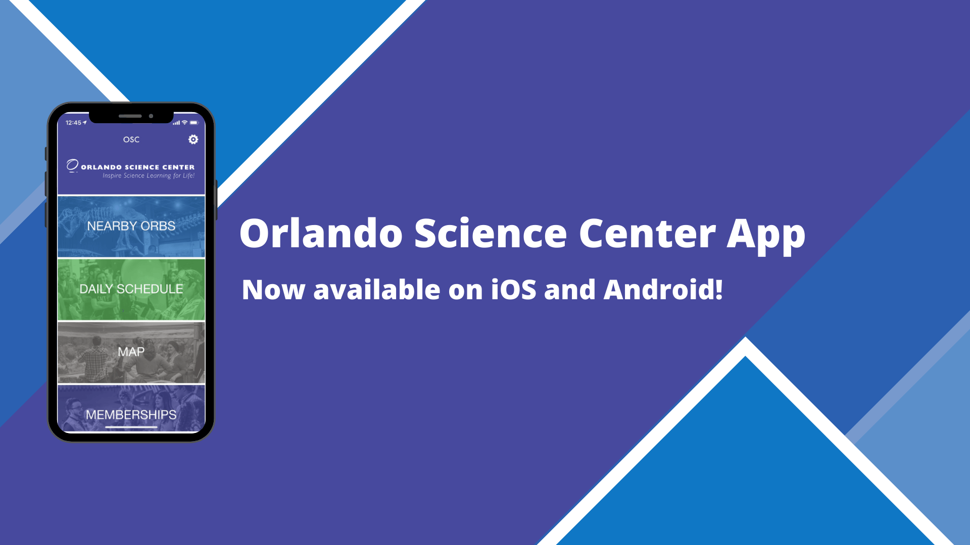 Orlando Science Center App Now available on iOS and Android!