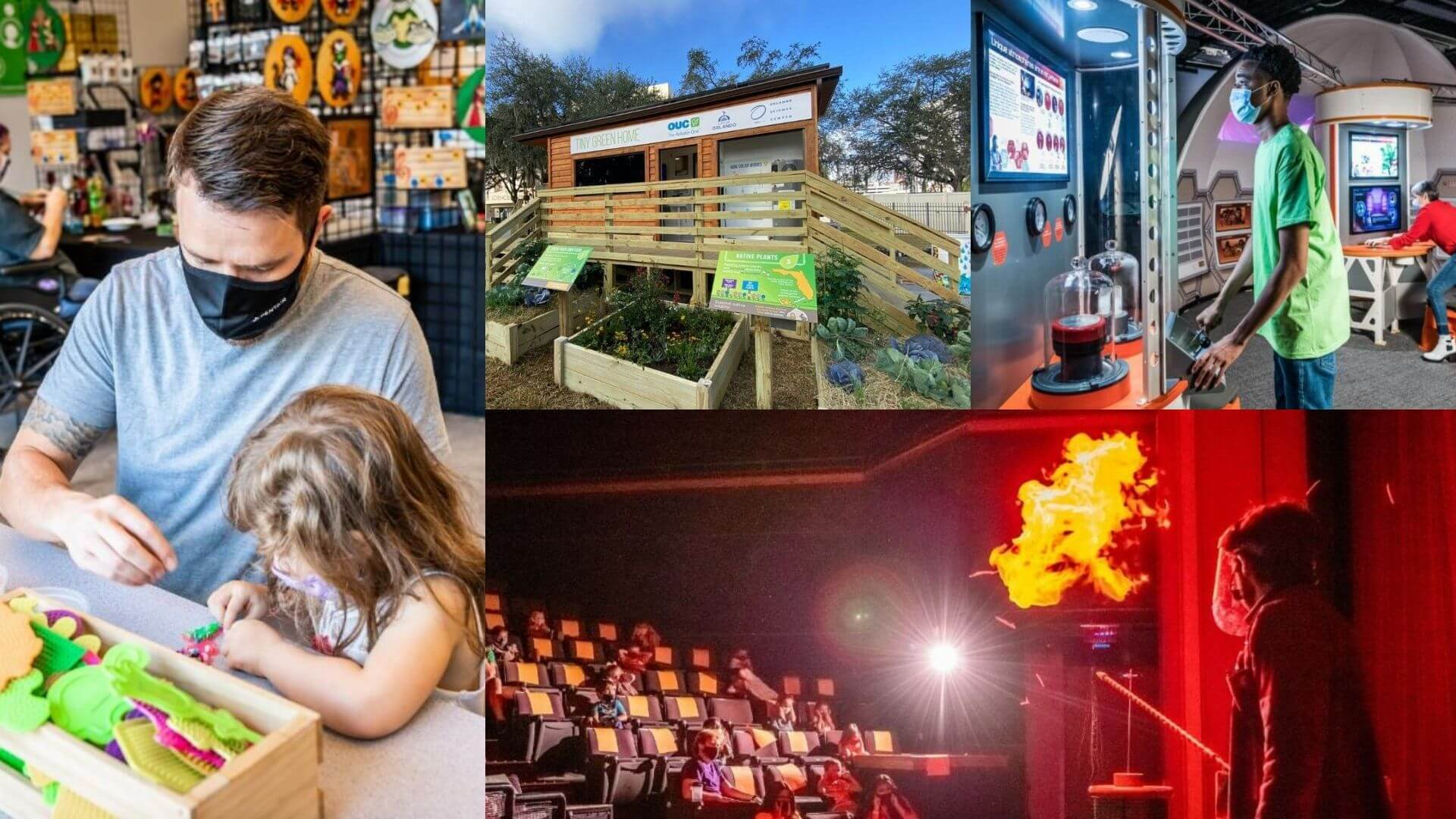 People experiencing programs over Spring Break at Orlando Science Center
