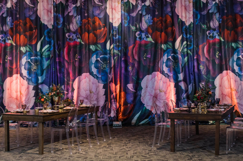 flower curtain backdrops