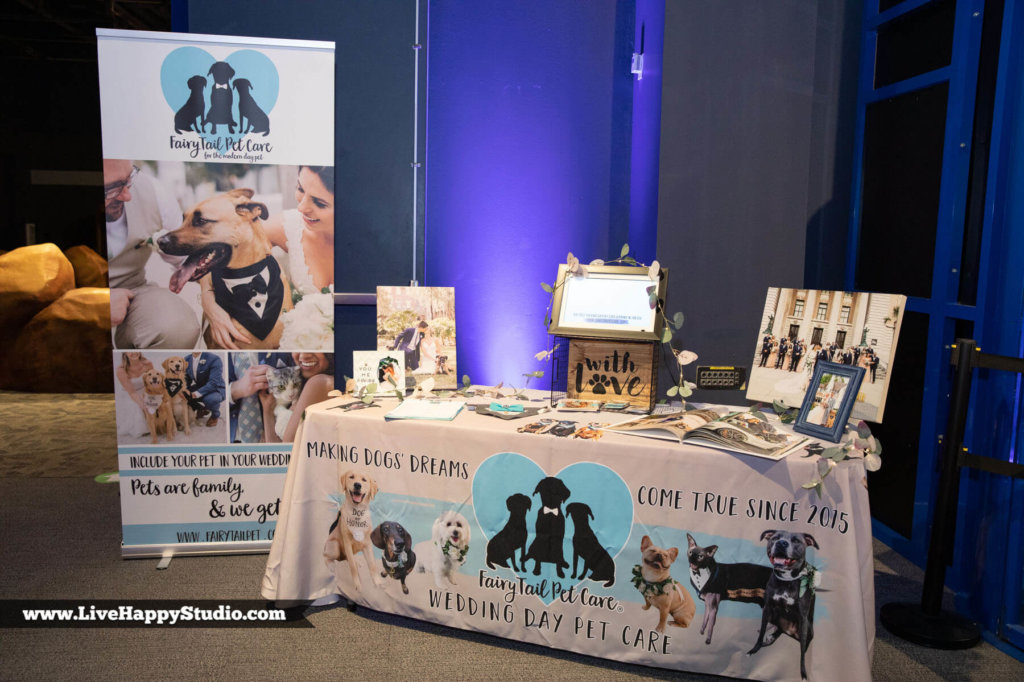 a table display for Fairytale Pet Care