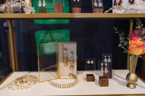 A display of earrings, necklaces, and bracelets