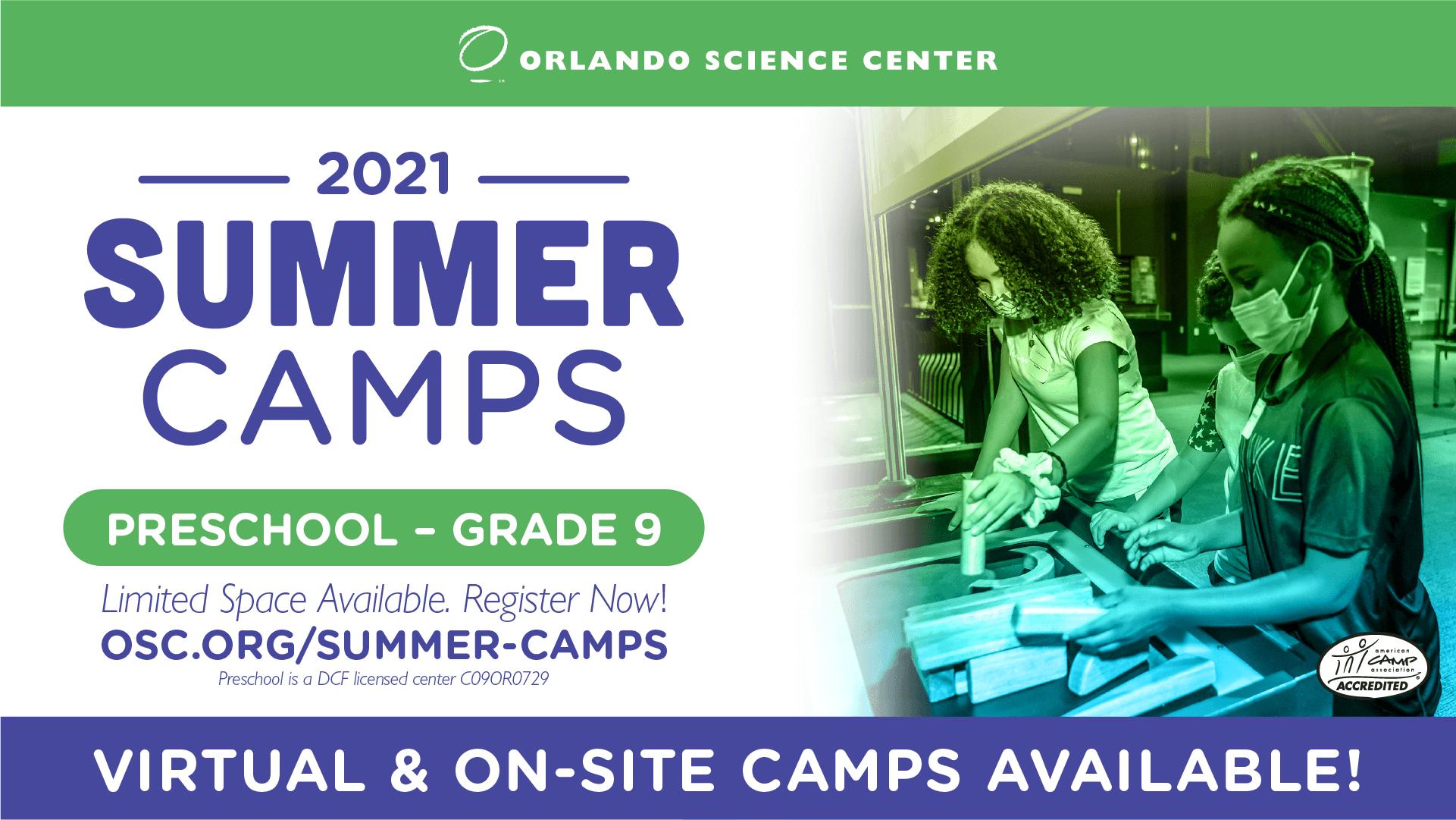 2021 Summer Camps Preschool - Grade 9