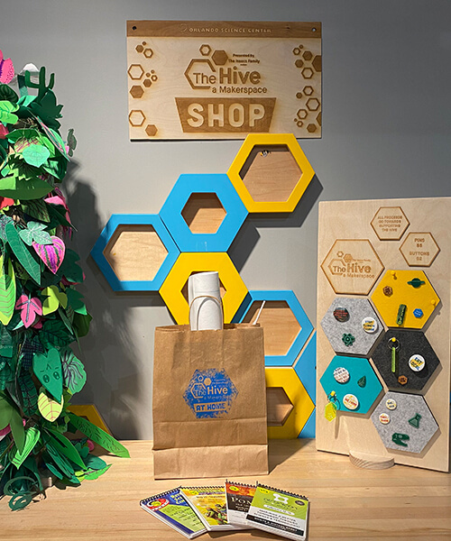Hive Shop take-home kits and featured items