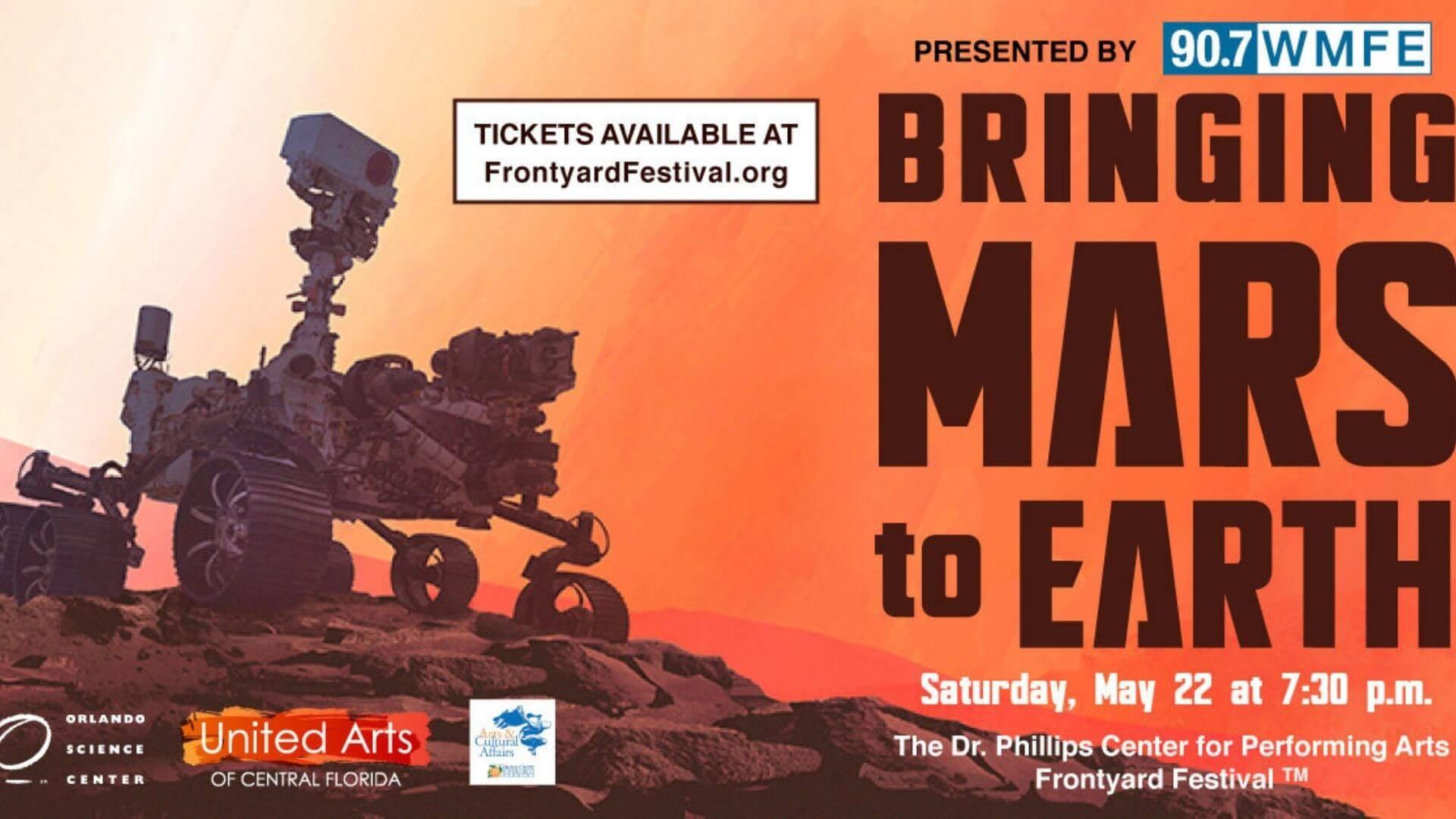 Bringing Mars to Earth Saturday May 22 at 7:30pm