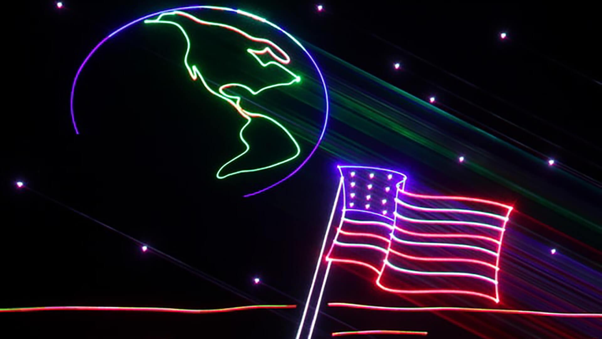 July 4th Celebration Laser Show