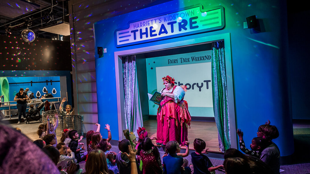 Orlando Science Center Story Time in KidsTown Theatre
