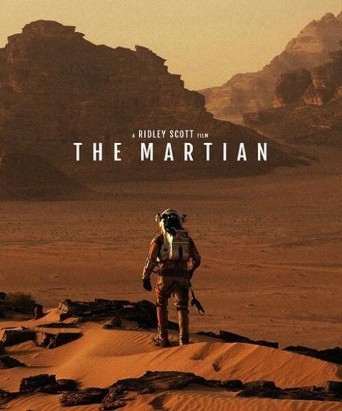 The Martian movie cover