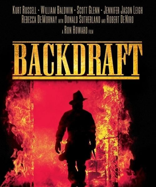 the cover of the movie backdraft
